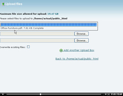 cpanel file manager upload